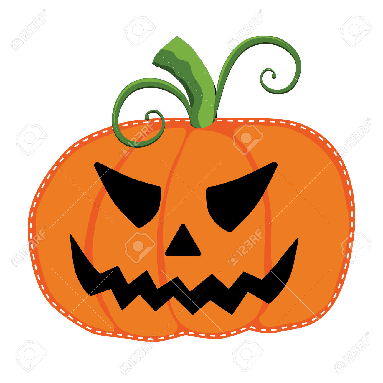Jack O Lantern Or Carved Pumpkin On A Transparent Background.