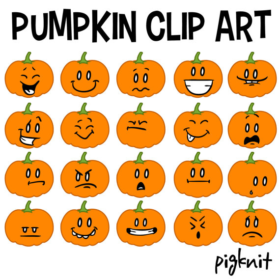 Girly Pumpkin Faces.