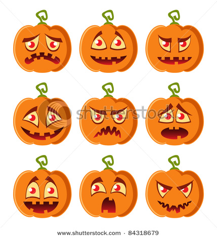 Pumpkin Faces Clip Art & Pumpkin Faces Clip Art Clip Art Images.