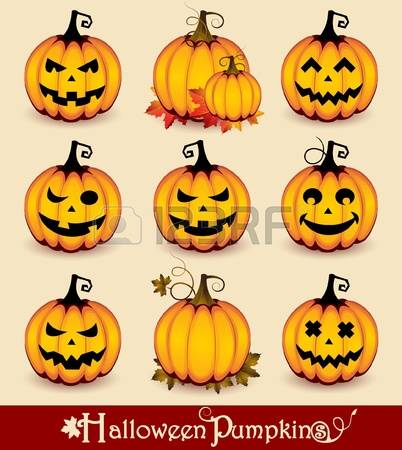 14,322 Pumpkin Face Stock Vector Illustration And Royalty Free.