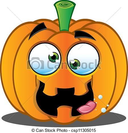 Vector Clip Art of Jack o Lantern Pumpkin Face.