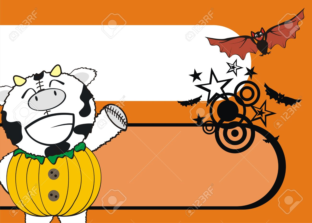 Cow Pumpkin Cartoon Background Royalty Free Cliparts, Vectors, And.