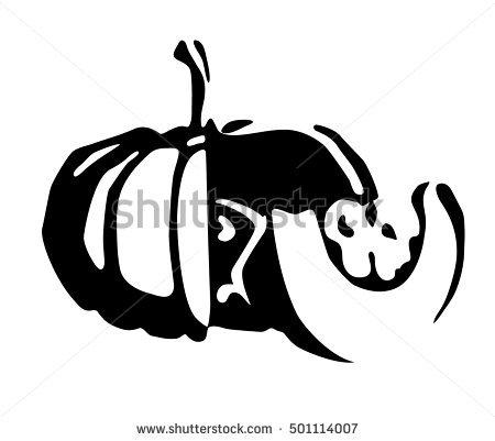 Cut Open Pumpkin Stock Images, Royalty.