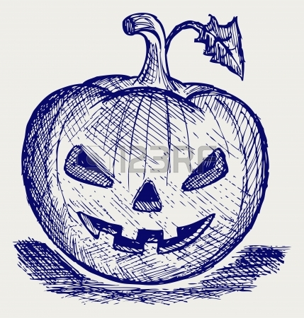 Halloween Pumpkin. Doodle Style Royalty Free Cliparts, Vectors.