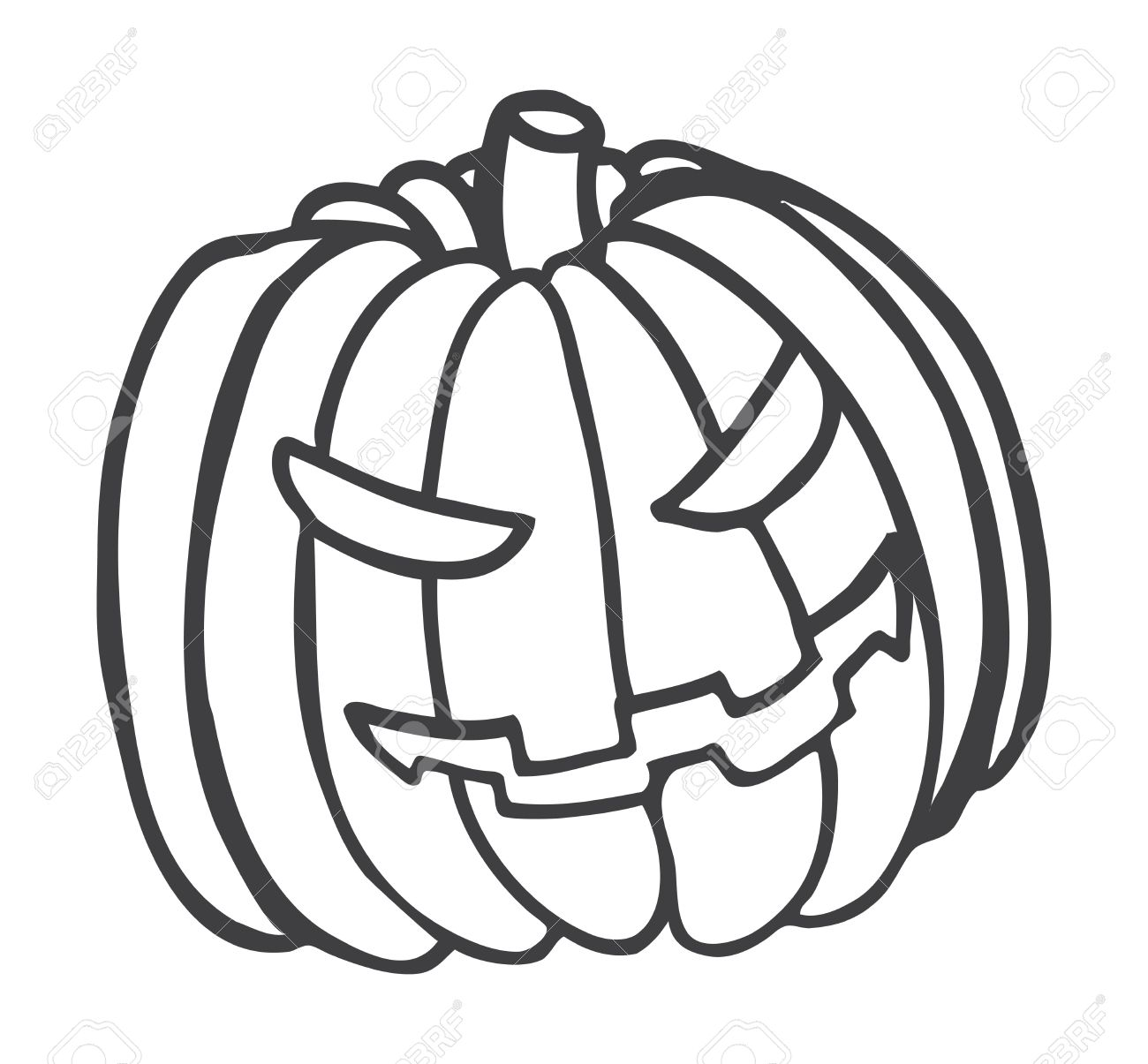 Halloween Pumpkin Doodle Royalty Free Cliparts, Vectors, And Stock.