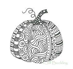 pumpkin zen doodle.