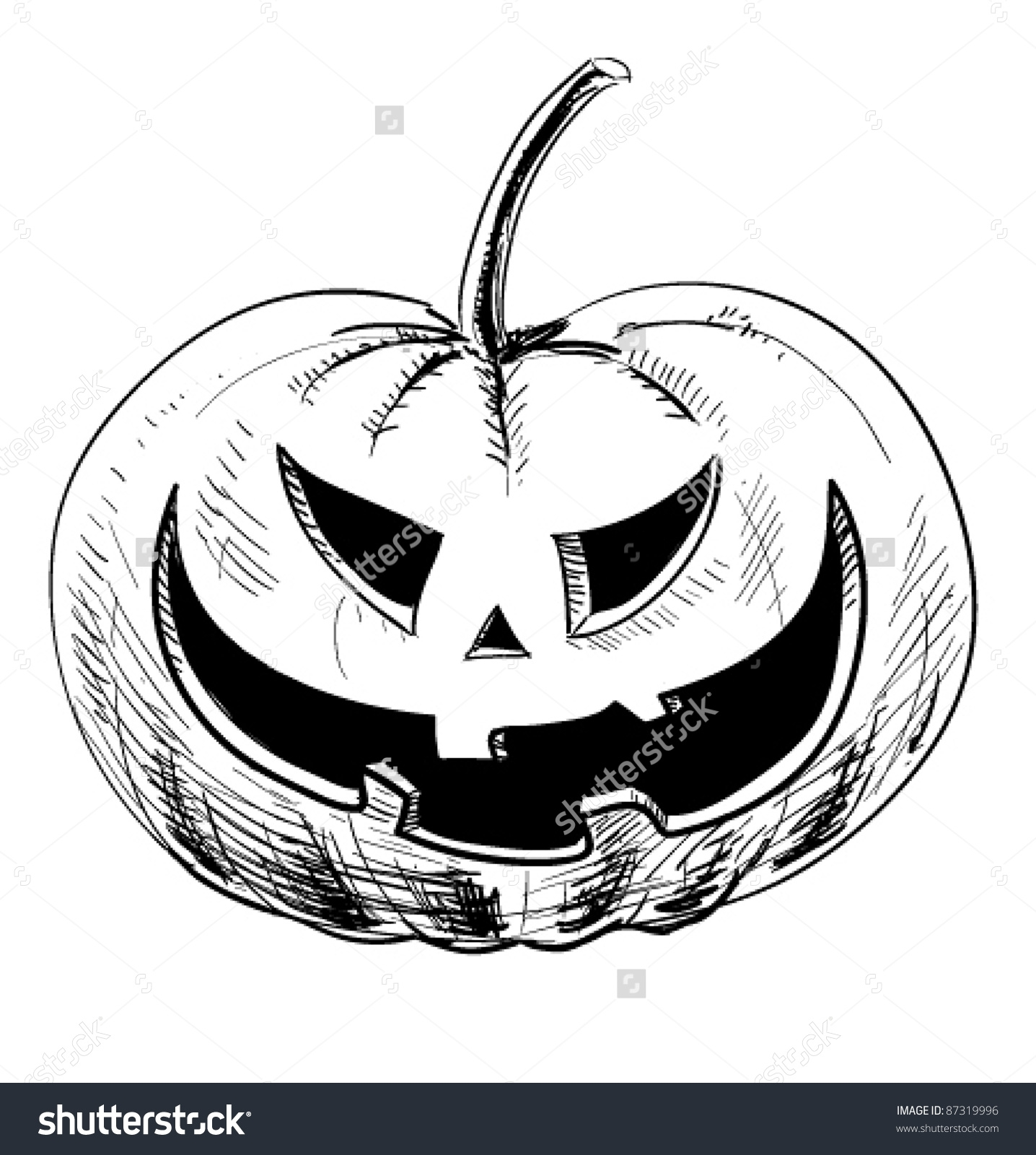 Pumpkin Doodle Clipart.