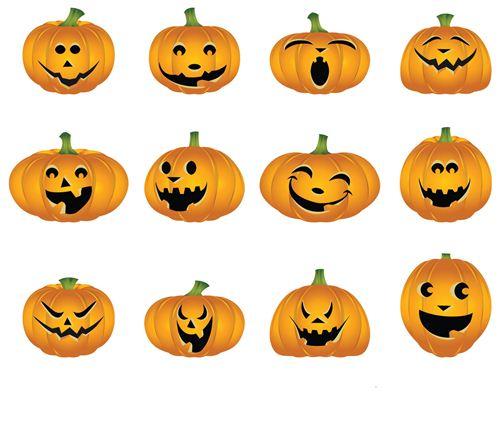 Pumpkin Eyes Clipart.