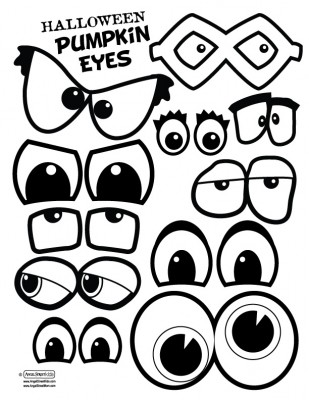 Pumpkin eyes and mouths. This would make a fun singing time. Have.
