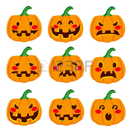 14,319 Pumpkin Face Stock Vector Illustration And Royalty Free.