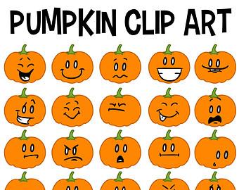 Pumpkin Face Clipart.