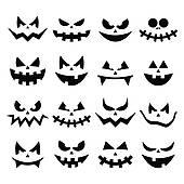 Pumpkin Face Clip Art.