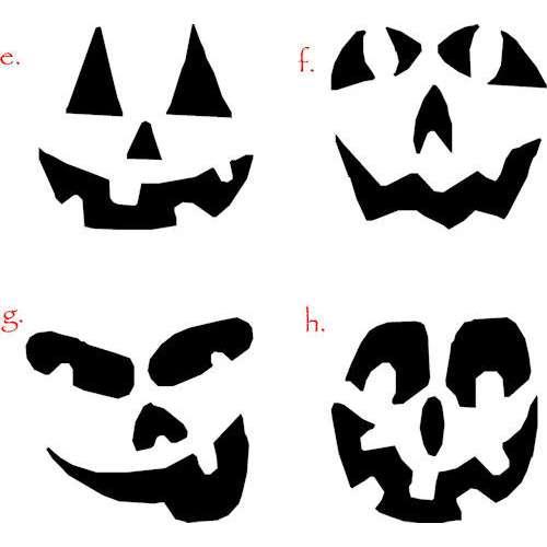 Halloween pumpkin face clipart.