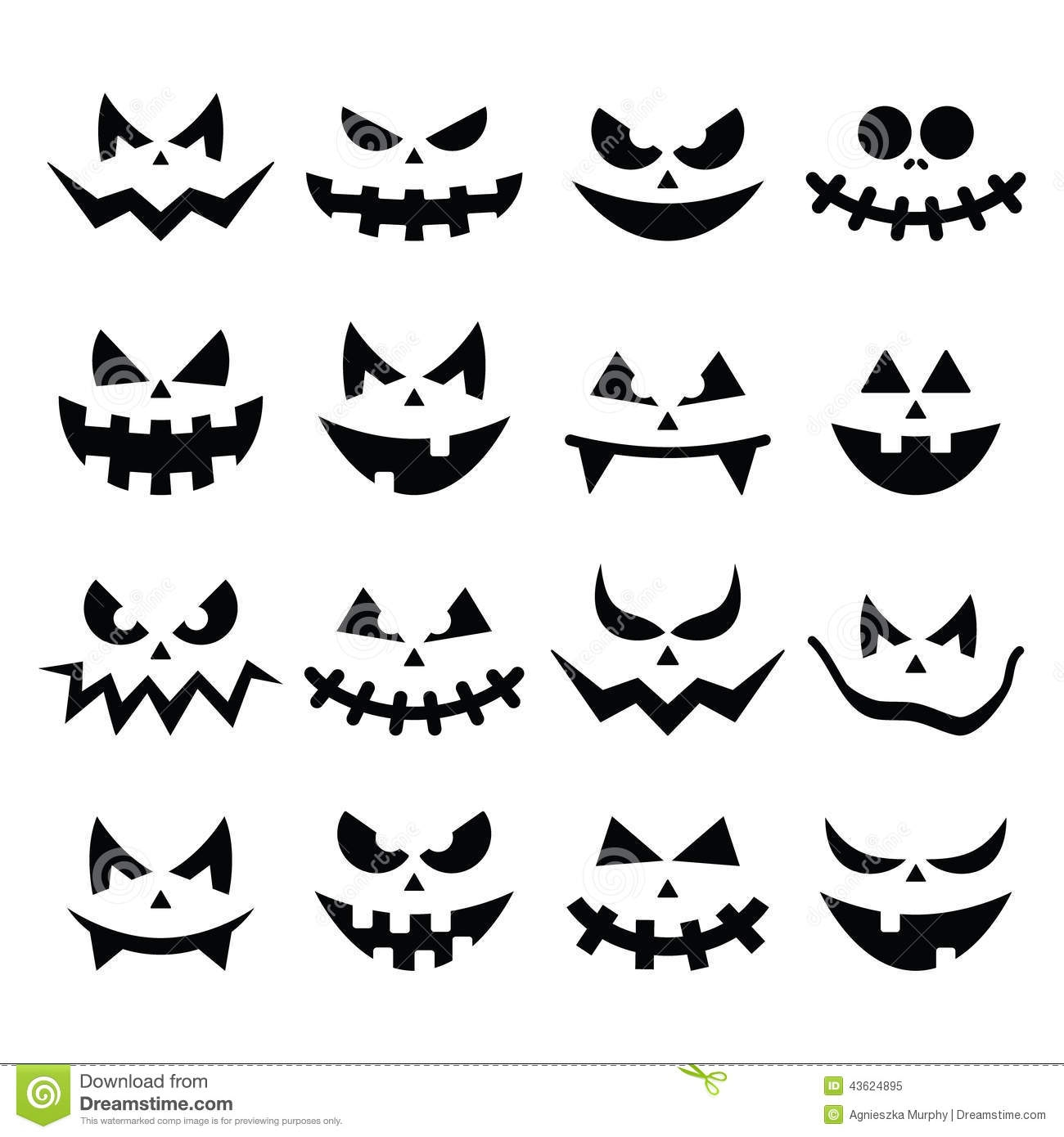 evil face pumpkin template - pumpkin face clipart black and white clipground