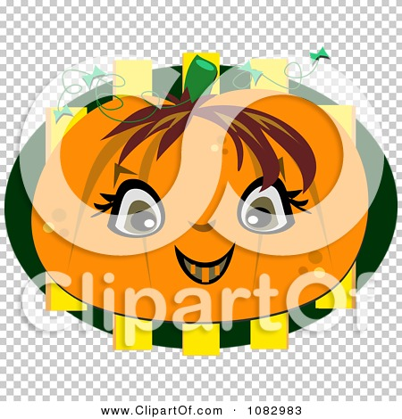 Clipart Happy Halloween Pumpkin Face.