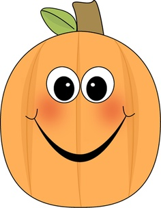 Pumpkin Face Black And White Clipart.