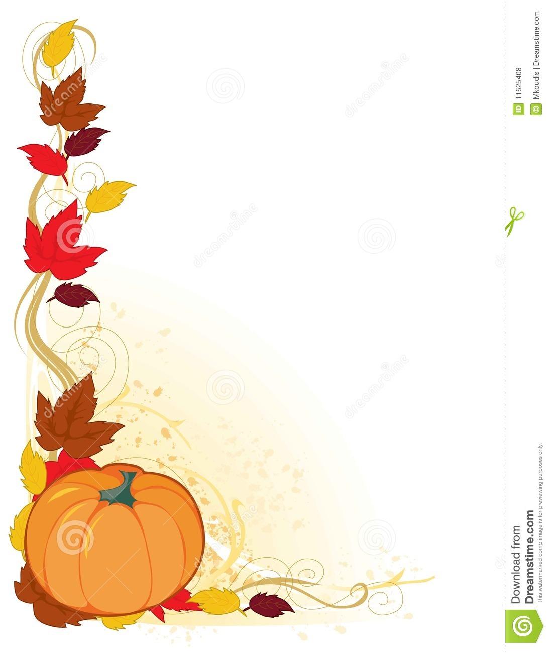 Fall Pumpkin Border Clipart.