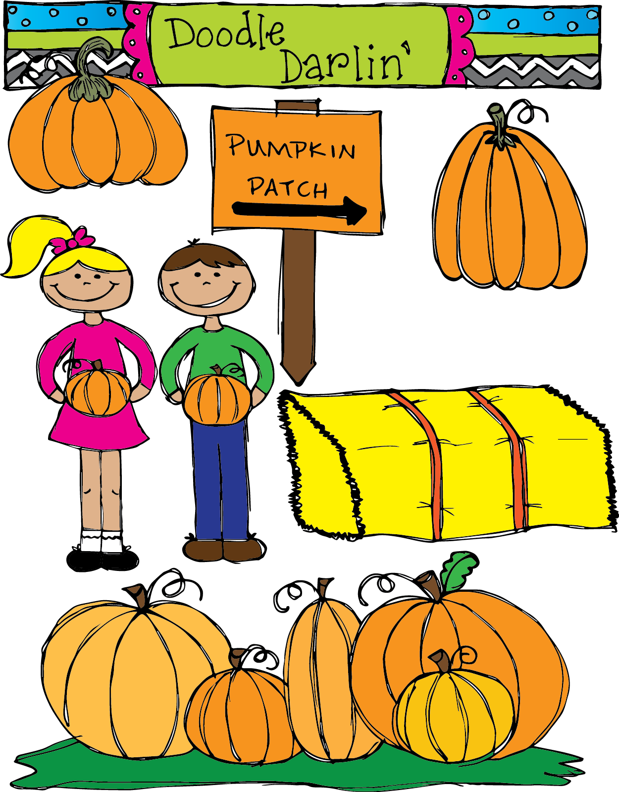Pumpkin Patch Clipart.