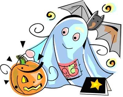 Pumpkin Ghost Clipart.