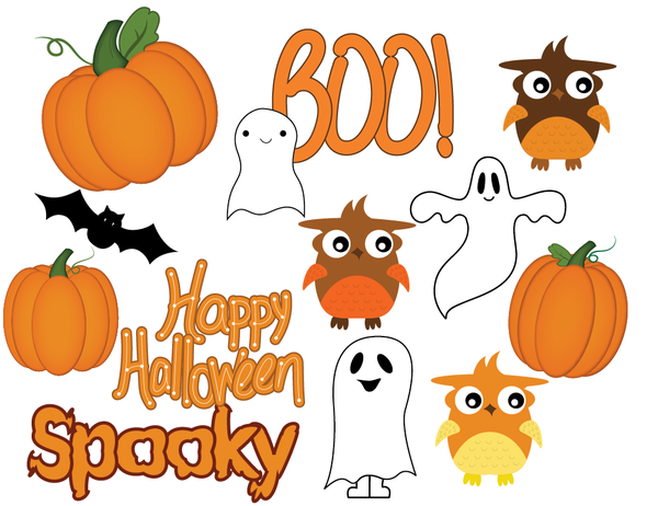 "Clipart Cubby on Twitter: ""Halloween clipart, owl clipart, ghost."