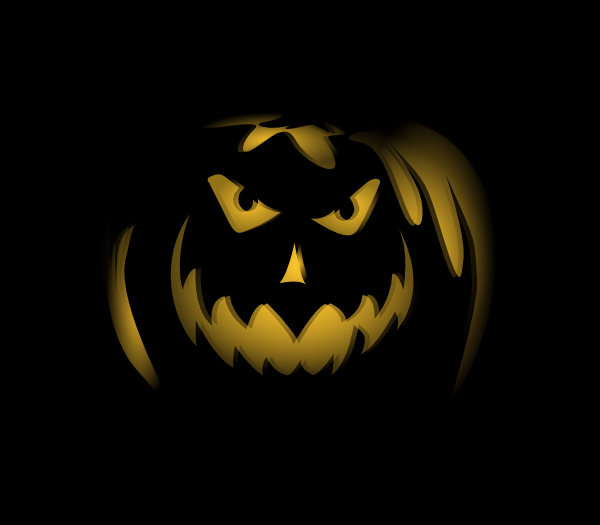Scary Dark Night Pumpkin Ghost Lantern clip art Free Vector / 4Vector.