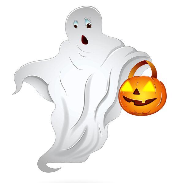 ghosts clipart pumpkin