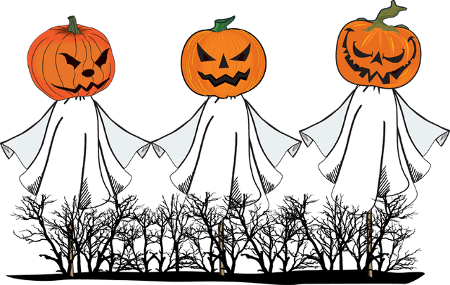 Pumpkin ghost clipart.