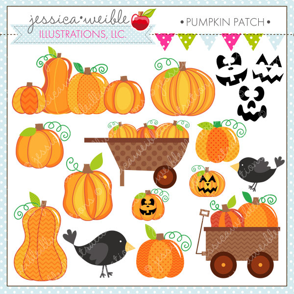 Pumpkin Patch Cute Digital Clipart for Commercial and.