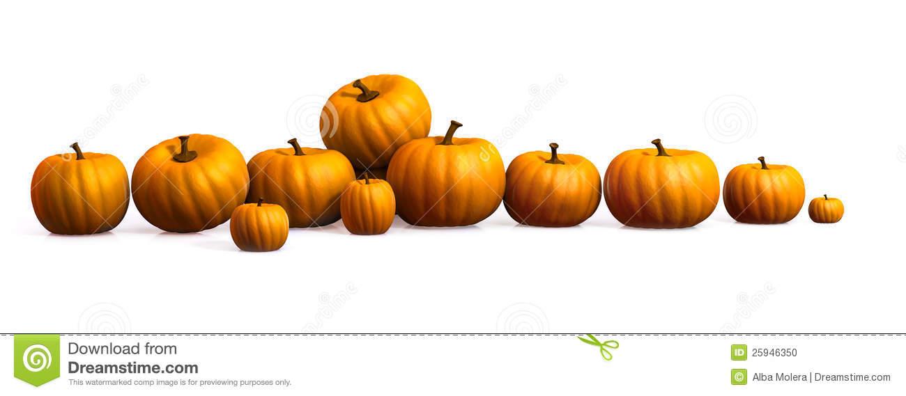 Row Of Pumpkins Clipart.