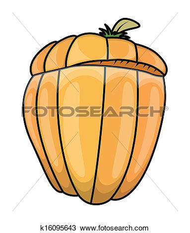 Clipart of Half Sliced Pumpkin Vector k16095643.