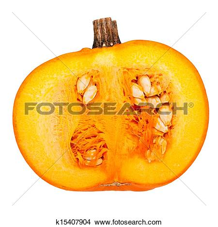 Stock Photo of Half pumpkin k15407904.