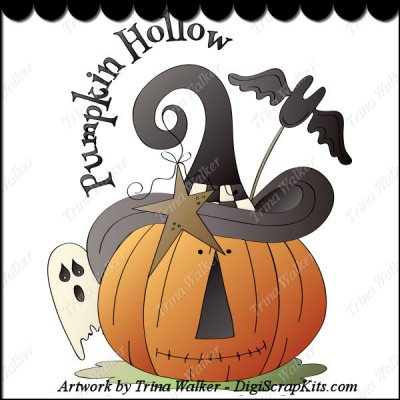 Pumpkin Hollow 1 Clip Art Single : Digi Scrap Kits.