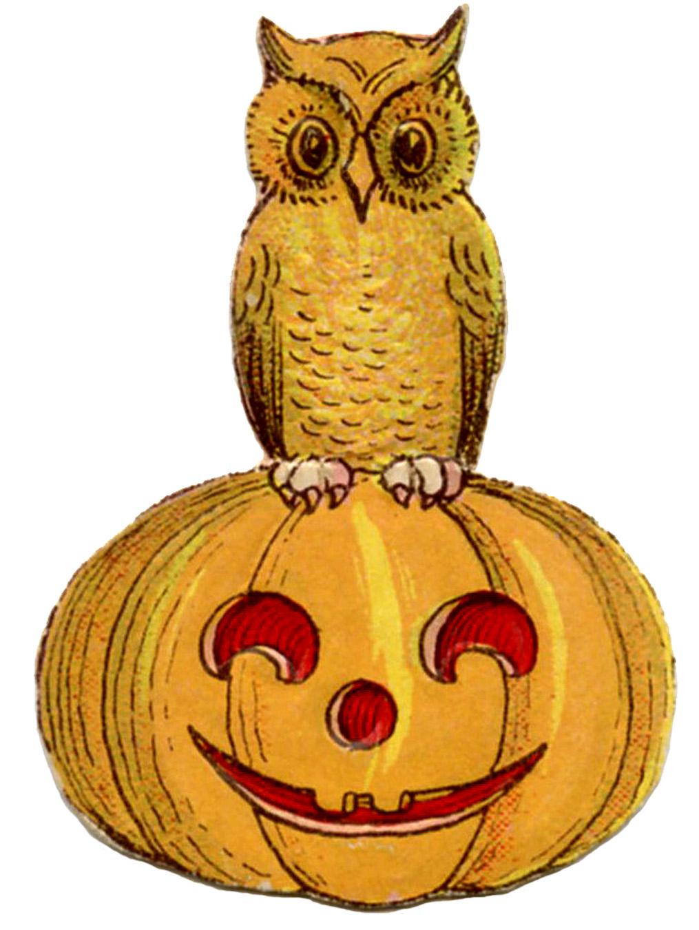 Vintage Halloween Clip Art.