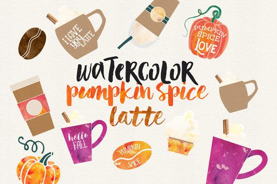 Fall Clip Art Coffee Clipart Pumkpin Clipart Yummy.