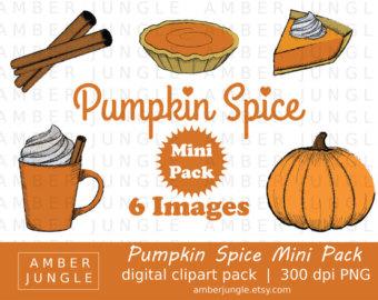 Pumpkin Spice Clipart Instant Download Pumpkin Pie Spice.