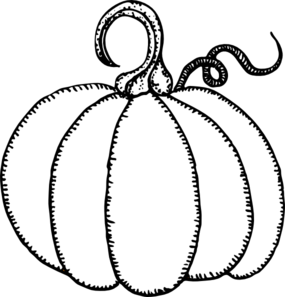 Pumpkin Outline clip art.