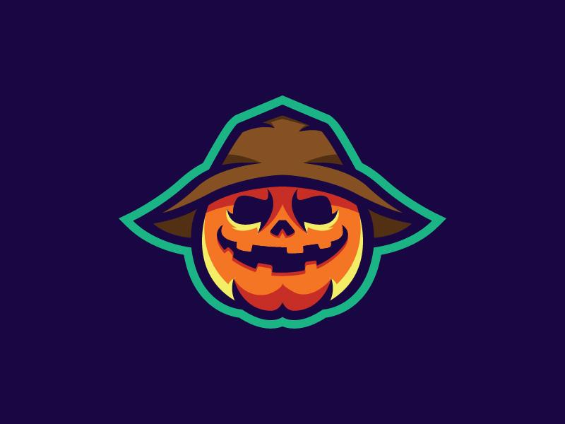 Scarecrow Pumpkin Logo Mascot by Nuki on Dribbble.