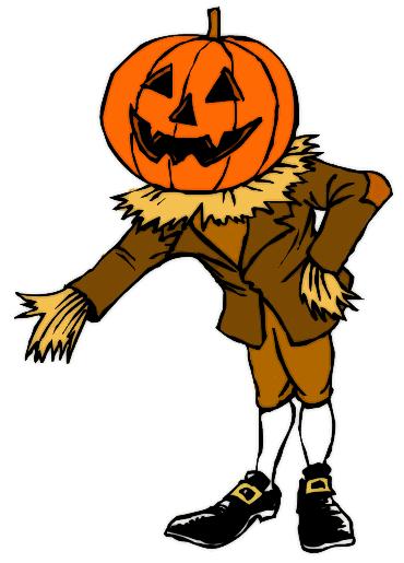 Pumpkin man clipart.