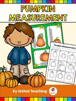 Fall Pumpkin Measurement Math Center by United Teaching.