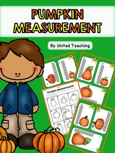 FREE *** Fall Pumpkin Measurement Math Center >> Measure the.