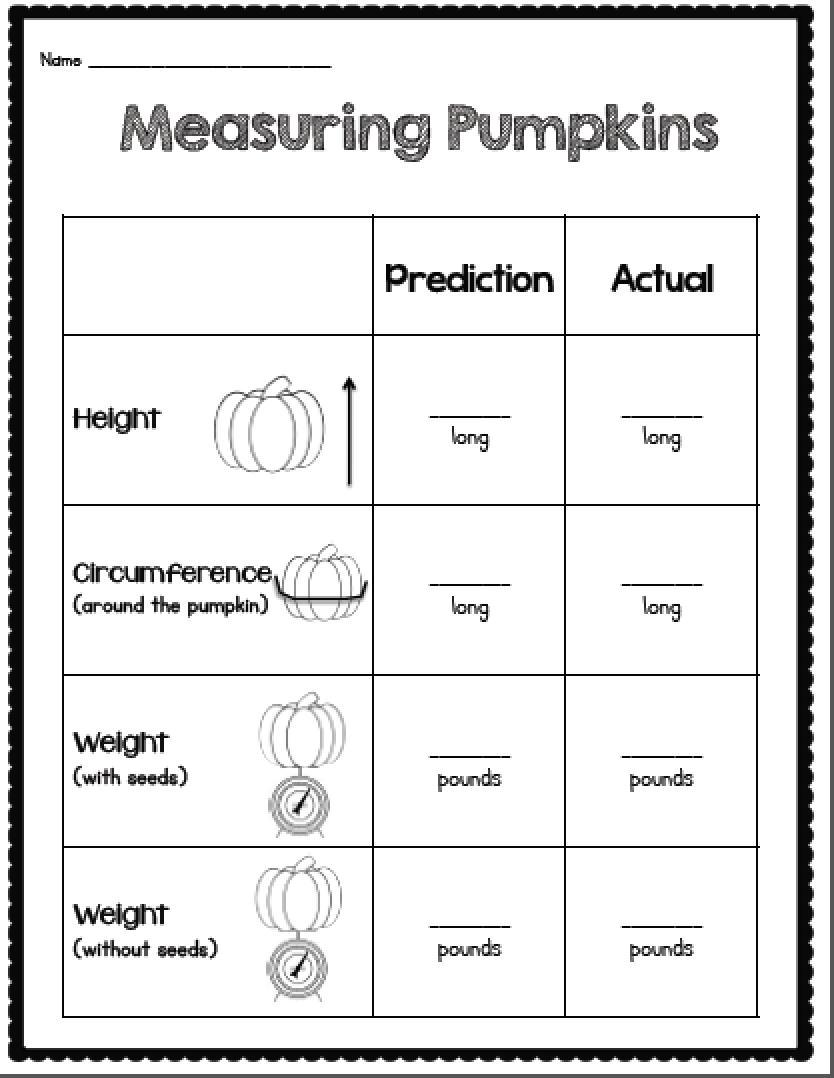 Sarah's First Grade Snippets: Pumpkin Freebie Update.