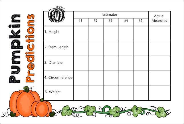 Corkboard Connections: Pumpkin Predictions Measurement Fun!.