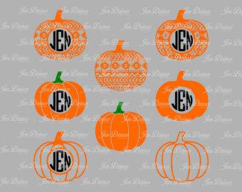 Pumpkin silhouette.