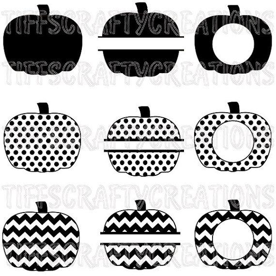 Pumpkin Monogram Clipart Black And White Clipground