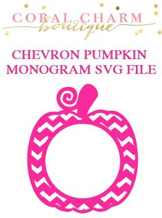 Monogram Polka Dot Pumpkin SVG and DXF Digital Download.
