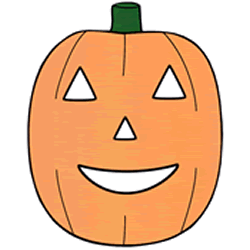 Halloween Pumpkin Mask.