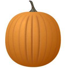 Cute Pumpkin Clip Art.