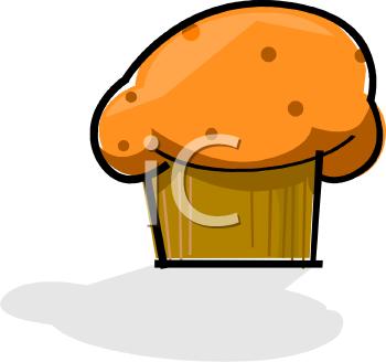 Pumpkin Muffin Clipart.