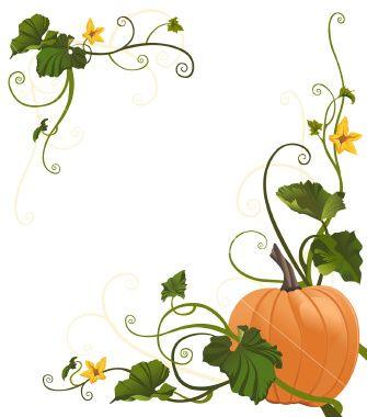 Pumpkin Vine Border.