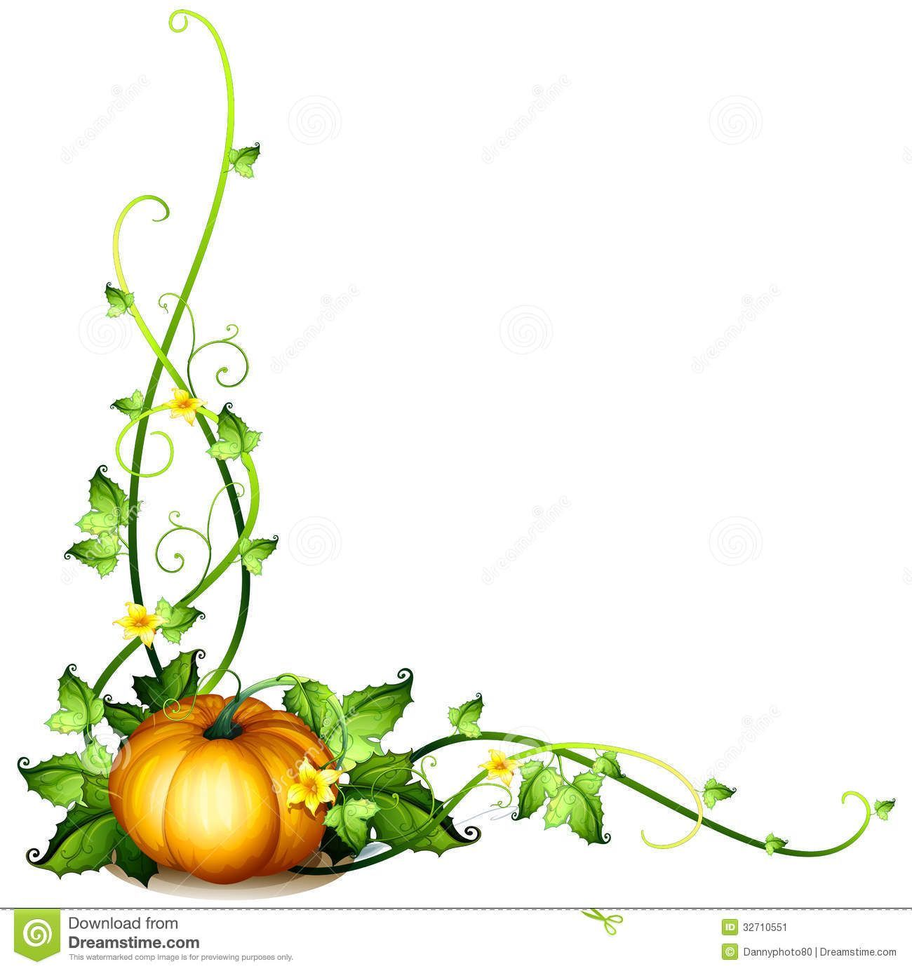 Pumpkin Vine Clipart 1.